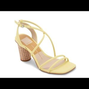 Dolce Vita Yellow Faux Leather Nico Sandal